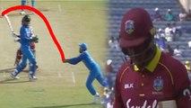 India VS West Indies 3rd ODI: Rohit Sharma takes stunning catch of Rovman Powell | वनइंडिया हिंदी
