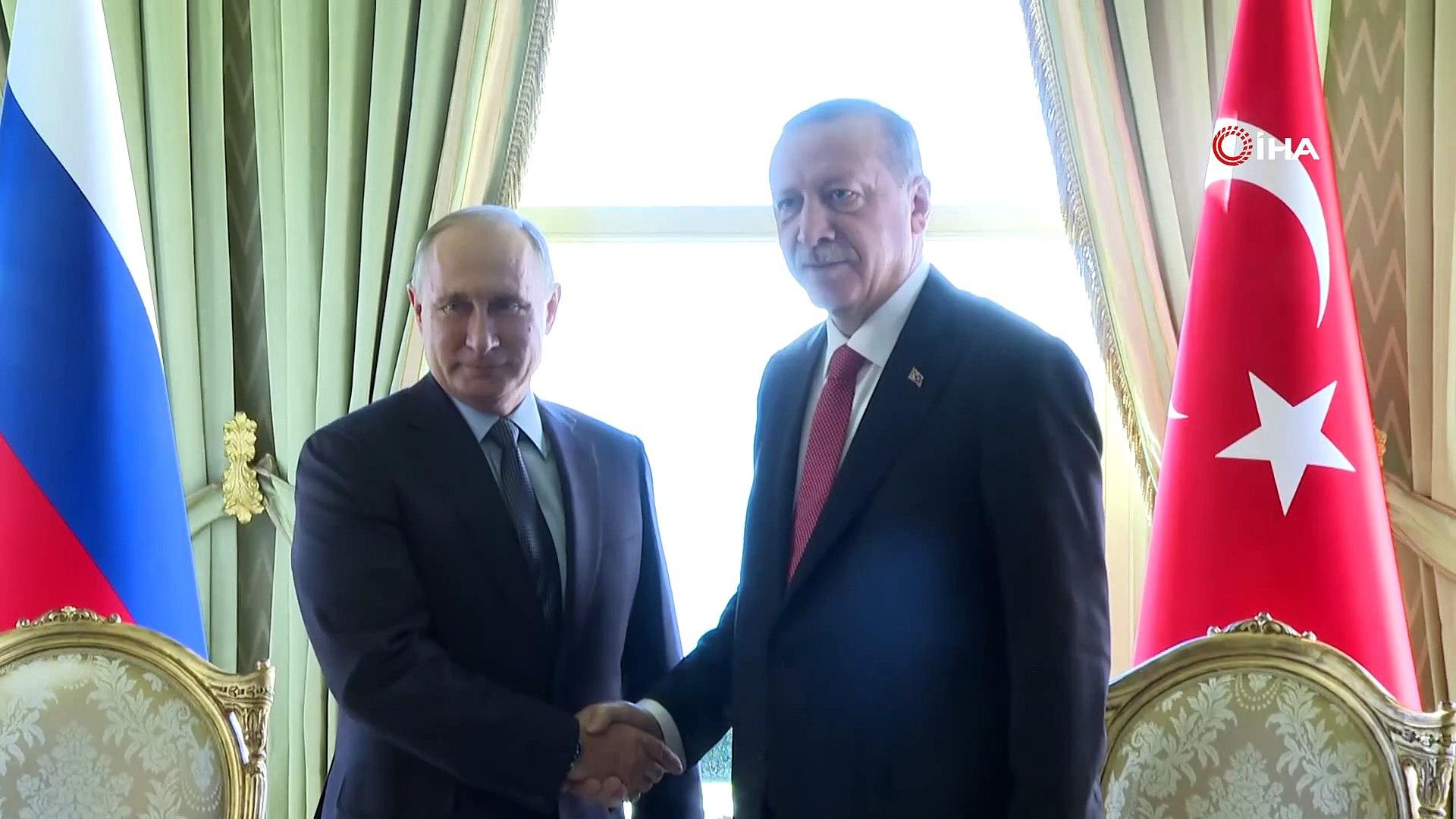 Cumhurbaşkanı Erdoğan, Vladimir Putin ile bir araya geldi
