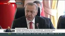 Başkan Erdoğan, Suriye için toplanan dörtlü zirve sonrası konuşuyor