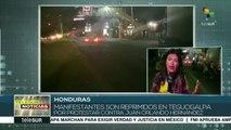 Manifestantes hondureños son reprimidos por protestar contra JOH