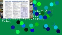 F.R.E.E [D.O.W.N.L.O.A.D] Microsoft Word 2016 Intermediate Quick Reference Paragraphs, Tabs,