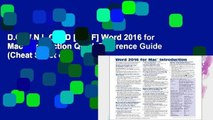 D.O.W.N.L.O.A.D [P.D.F] Word 2016 for Mac Introduction Quick Reference Guide (Cheat Sheet of