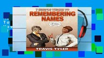 Review  7 Simple Tricks To Remembering Names: How to Recall Names of People You Meet