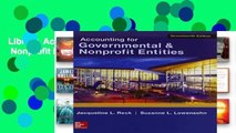 Library  Accounting for Governmental   Nonprofit Entities W/Connect