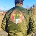 Sylvester Stallone and his RAMBO 5 jacket