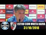 """""""ESTOU COM MUITA RAIVA DO VAR, FOMOS ROUBADOS"""" COLETIVA DE RENATO GAÚCHO 31/10/2018"""