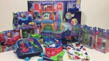 PJ Masks Haul Headquarters Cat Car Gekko Mobile Owl Glider Duet Figures Catboy Gekko Owlette Shirts