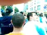 psg om    escorte du bus au stade en chantant !!!