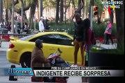 Youtubers mexicanos sorprenden a indigente por su cumpleaños