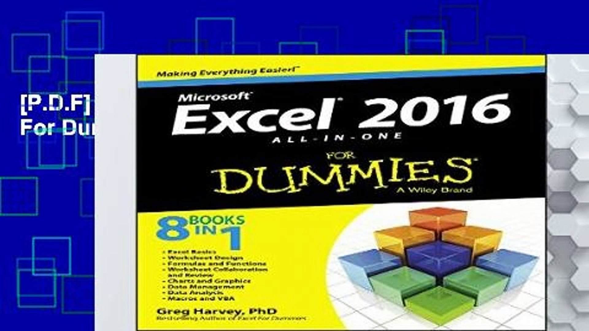 [P D F] Excel 2016 All-In-One For Dummies [P D F]