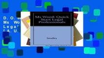 D.O.W.N.L.O.A.D [P.D.F] Ms Word: Quick Start Legal Professionals [A.U.D.I.O.B.O.O.K]
