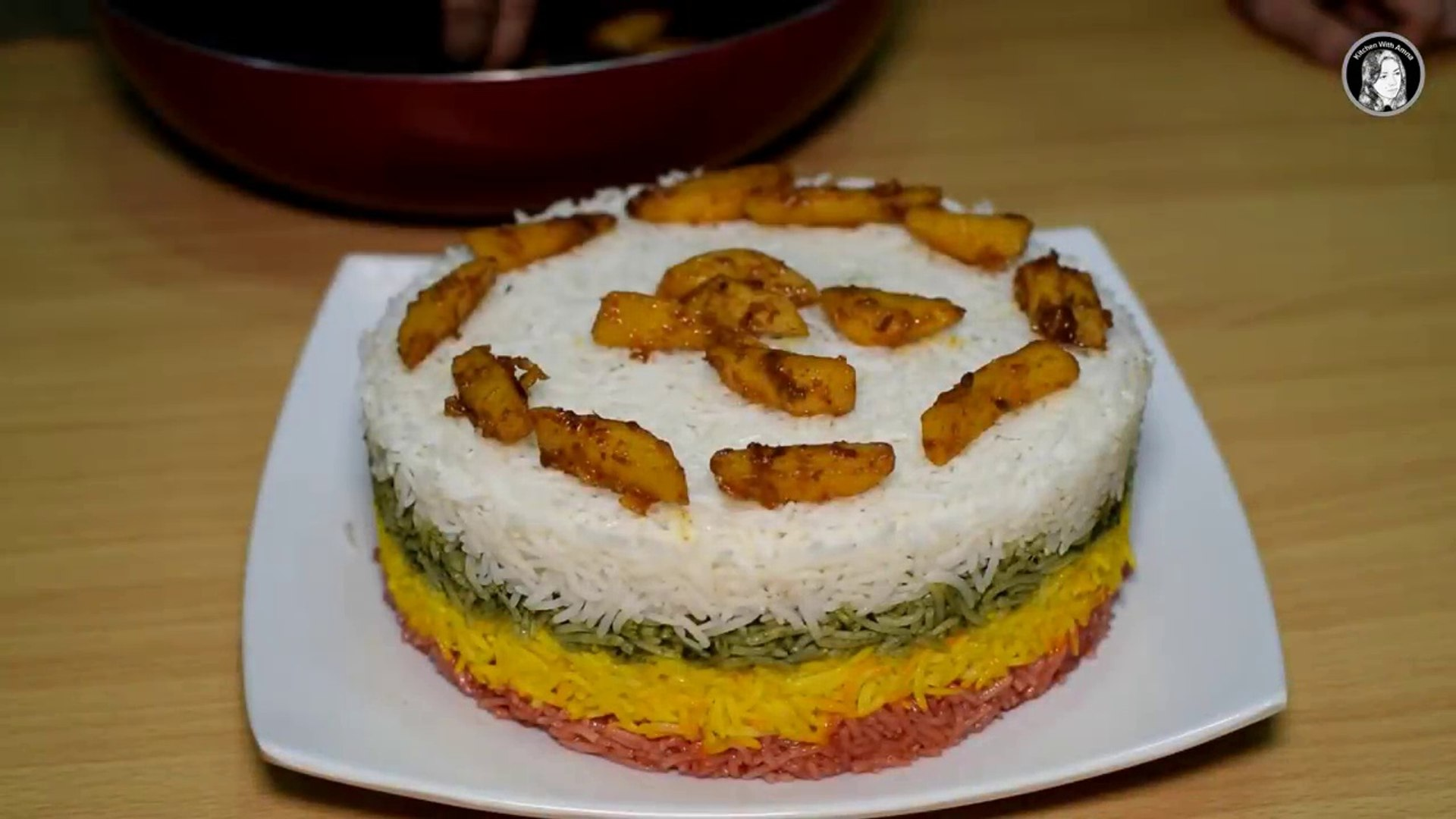 Rainbow Potato Rice Recipe - How to make Colorful Rice - Kitchen With Amna