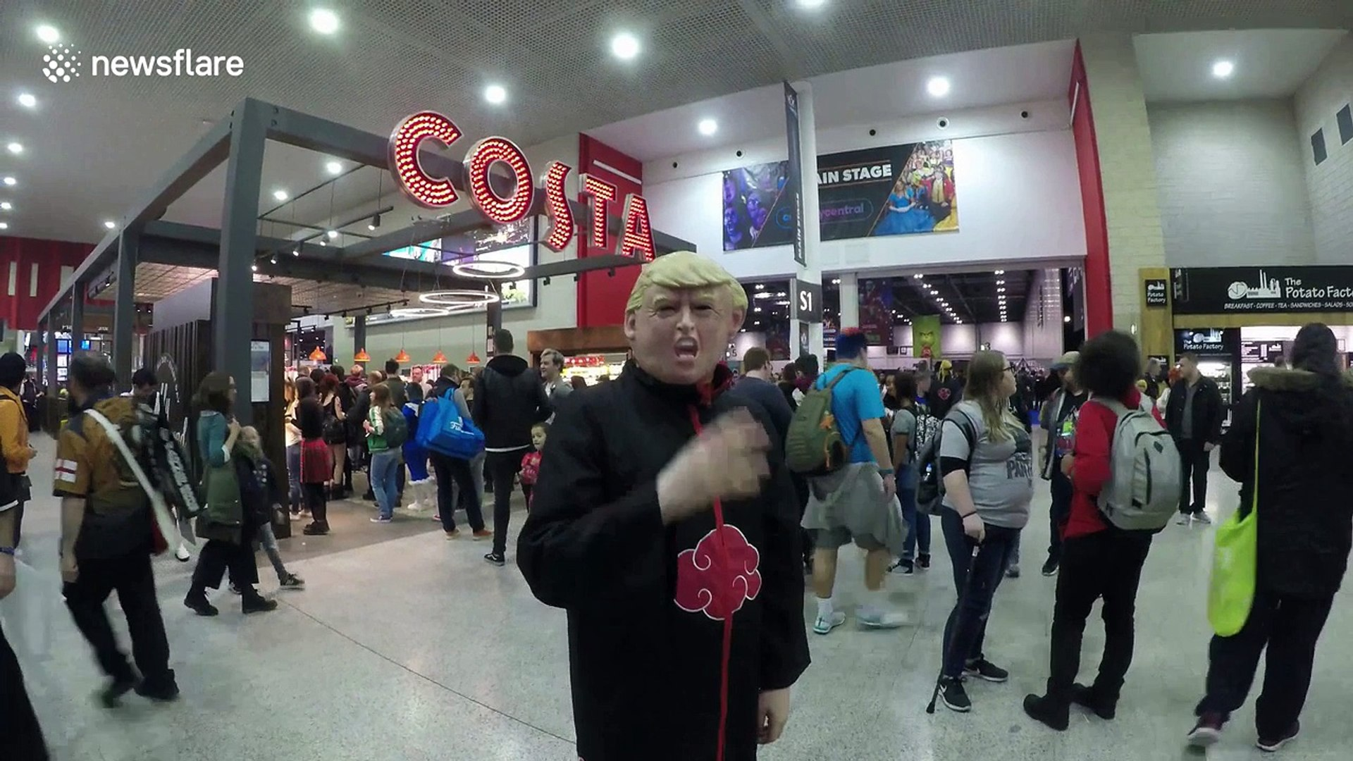 Cosplayer shows off the many faces of Donald Trump at MCM London Comic Con