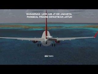 [BREAKING] Basarnas: Pesawat Lion Air JT-610 Dipastikan Jatuh