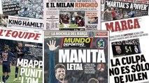 La déculottée du Real Madrid fait réagir l'Espagne, le plongeon de Martial indigne la presse anglaise