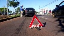 Dois homens ficam feridos em colisão no Bairro Alto Alegre