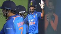 India vs Westindies 2018 4th Odi : Dhoni,Virat Kohli Appreciates Ambati Rayudu's Century | Oneindia