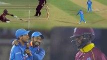 India VS West Indies 4th ODI: Kuldeep Yadav's superfast throw runs out Shai Hope| वनइंडिया हिंदी