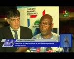 RTB/Présentation des opportunités d'investissement dans le secteur agricole  par le ministre de l'agriculture Jacob OUEDRAOGO au club des hommes d'affaires Franco-burkinabé