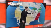 What will the weather be like in your area for election day?