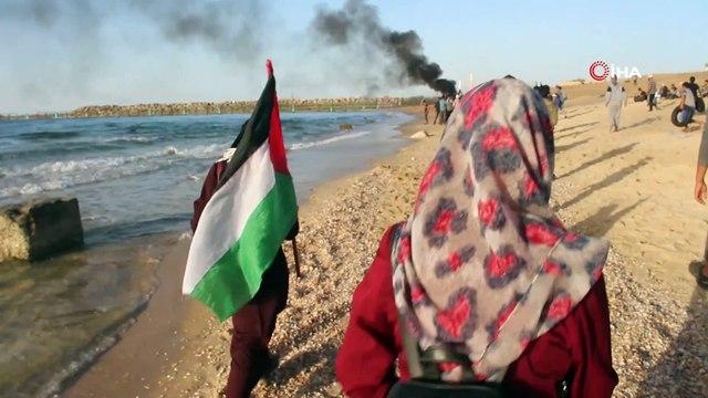 - İsrail Askerleri Gerçek Mermi Kullandı: 1 Ölü, 80 Yaralı