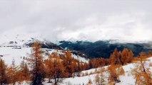 Météo : premiers flocons à Serre Chevalier dans les Hautes-Alpes