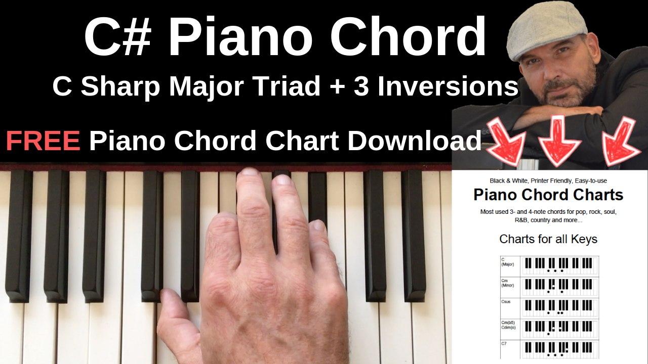 C Piano Chord   C Sharp Major + Inversions