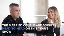 Robbie Williams And Wife Ayda Field Are X Factor Rivals