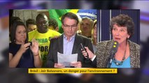 """Bolsonaro, un danger pour l'environnement ? """"Des jours très difficiles se préparent, pour les Brésiliens avant tout, car c'est leur richesse."""" affirme Isabelle Autissier (WWF France) : """"Il faut aussi que les Brésiliens eux-mêmes continuent à se mobiliser"""""""