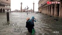 義大利風災6死 威尼斯70%遭水淹成「真水都」