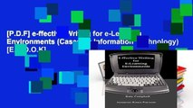 [P.D.F] e-ffective Writing for e-Learning Environments (Cases on Information Technology) [E.B.O.O.K]