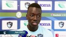 Avant HAC - Troyes en Coupe de la Ligue, interview de Pape Gueye
