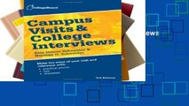 [P.D.F] Campus Visits and College Interviews (College Board Campus Visits   College Interviews)