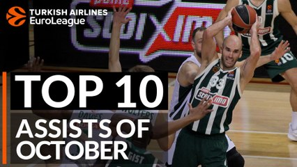 Turkish Airlines EuroLeague, Top 10 Assists of October