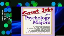 [P.D.F] Great Jobs for Psychology Majors (Vgm s Great Jobs Series) [P.D.F]