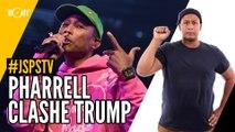 Je sais pas si t'as vu... Pharrell clashe Trump
