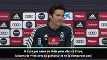 "FOOTBALL: La Liga: Real Madrid - Solari : ""Personne ne peut se comparer à Zidane"""