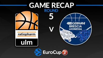 7Days EuroCup Highlights Regular Season, Round 5: Ulm 83-82 Brescia