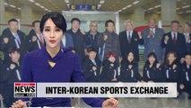 Delegation from S. Korea's World Taekwondo Federation arrives for performance in N. Korean capital