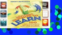 [P.D.F] Inviting Students to Learn: 100 Tips for Talking Effectively with Your Students