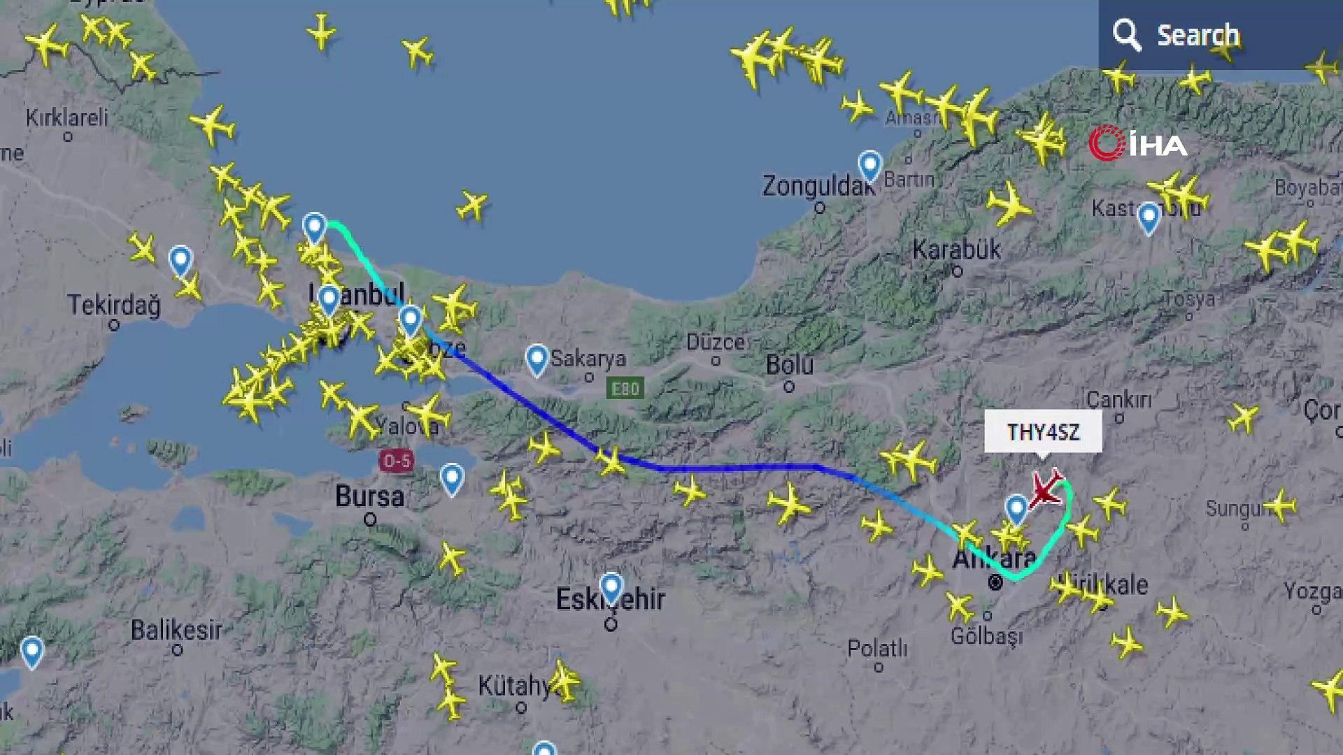 İstanbul Havalimanı'ndaki ilk tarifeli uçuş radardan görüntülendi ...