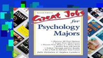 F.R.E.E [D.O.W.N.L.O.A.D] Great Jobs for Psychology Majors (Great Jobs For! Series) [E.B.O.O.K]
