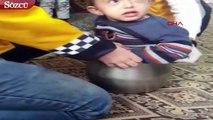 İki yaşındaki çocuğun tencere savaşı