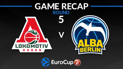 7Days EuroCup Highlights Regular Season, Round 5: Lokomotiv 75-83 ALBA