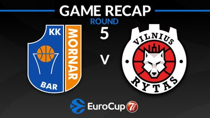 7Days EuroCup Highlights Regular Season, Round 5: Mornar 69-92 Rytas