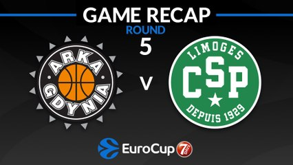 7Days EuroCup Highlights Regular Season, Round 5: Arka 87-78 Limoges