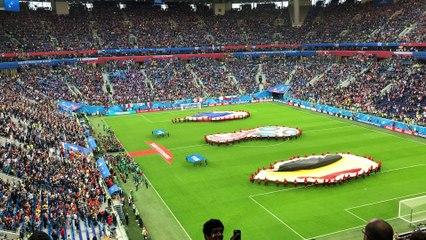France - Belgium at St Petersburg stadium