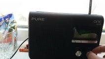 The PURE ONE Flow Portable Internet , DAB+ FM Radio playing talk radio