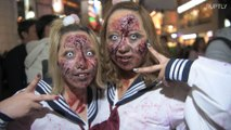 Ghoulish revellers haunt Tokyo's streets