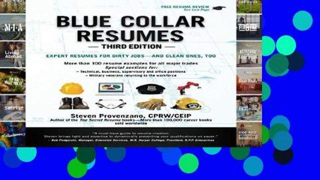 [P.D.F] Blue Collar Resumes, Third Edition: Third Edition [A.U.D.I.O.B.O.O.K]